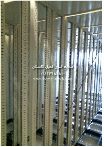 قفسه بندی متحرک و کمد بایگانی ریلی فلزی