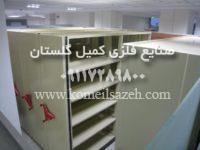 نصب فایل کمد بایگانی ریلی متحرک فلزی