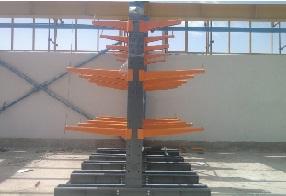 قفسه بندی فلزی صنعتی راک بازویی سنگین