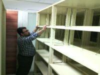 سیستم کمد بایگانی ریلی فلزی متحرک محکم
